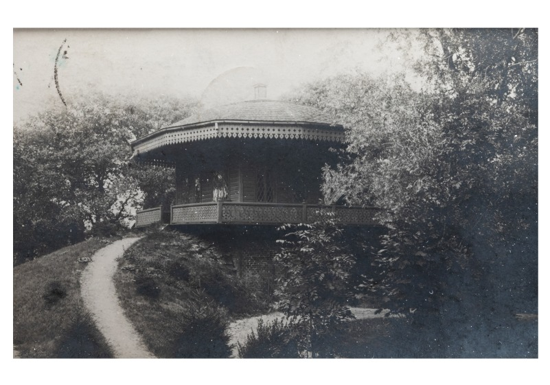 Park's pavilion near Goplanas's summerhouse in the southern part of the  pond area in Palanga, late 19th century