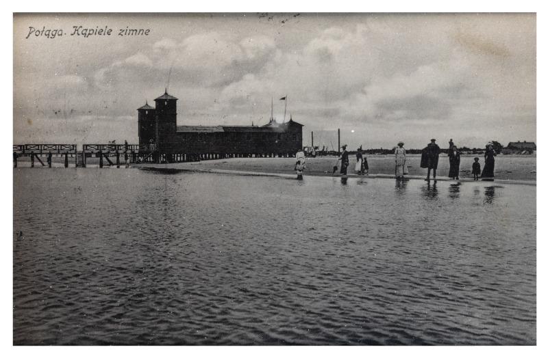 Cold bathing sites, Palanga, c. 1912