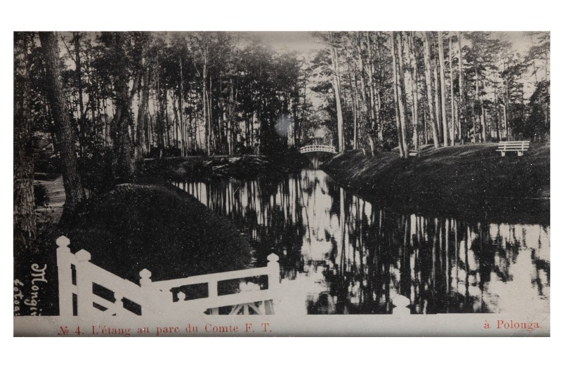 A pond in front of Count's F. T. manor, c. 1903