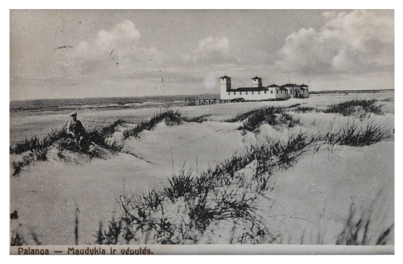 A bathing site and sand dunes, c. 1923–1924