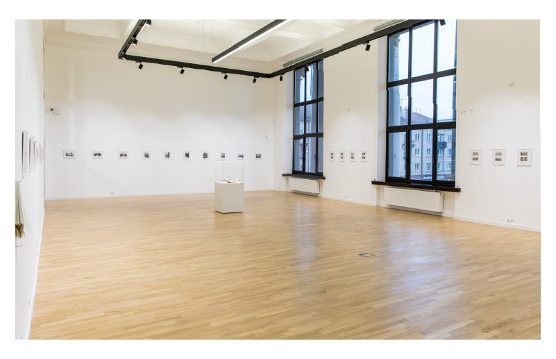 Paulina Mongirdaitė's exhibition at the National Library. Documentation by Vygaudas Juozaitis.