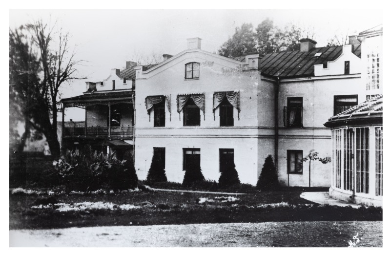 The western wing of Kretinga Manor House (copy). P. Mongirdaitė's album Kretynga, p. 3, 1890