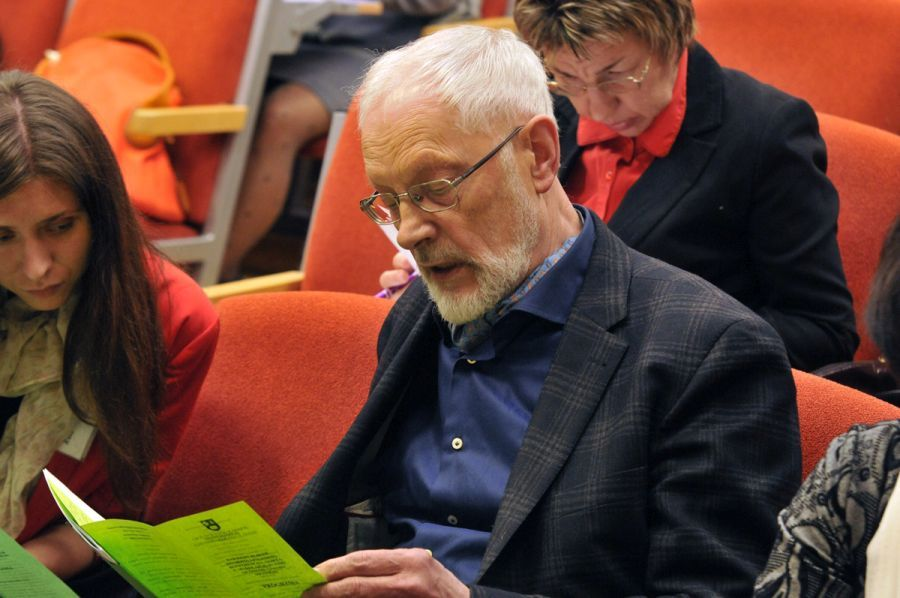 Vytautas Martinkus. Respublikinės studentų lituanistų konferencijos, skirtos V. Mykolaičio-Putino 120-osioms gimimo metinėms, metu. 2013 m.