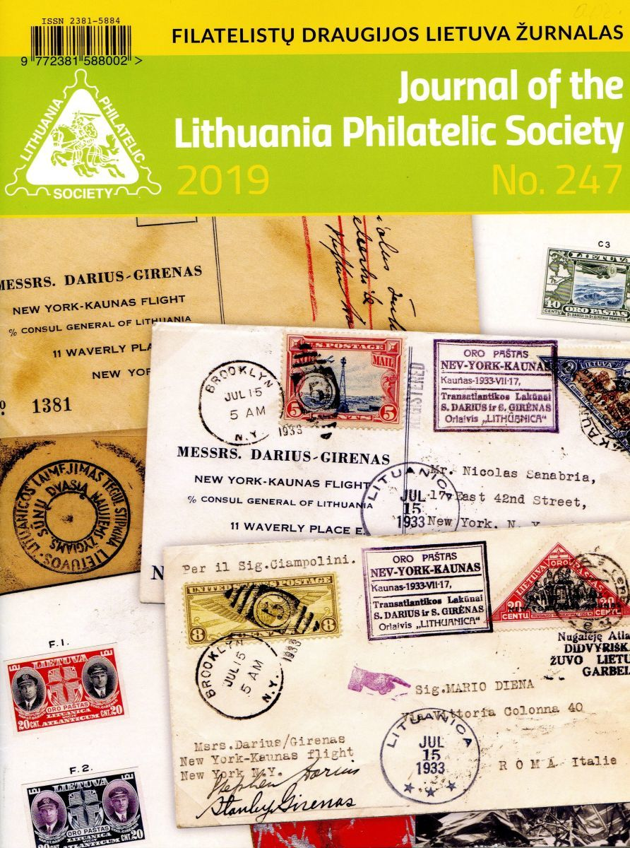 """Journal of the Lithuania Philatelic Society"", 2019 m., Nr. 247"