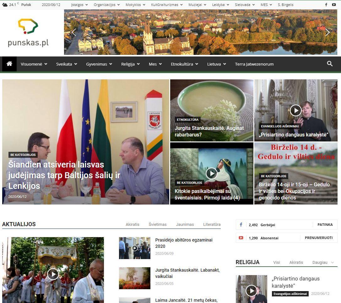 Lenkijos lietuvių portalas, 2020 m.
