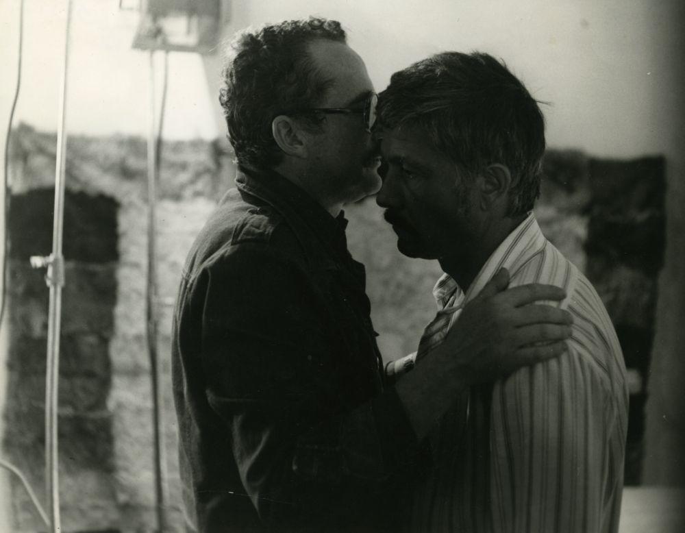 """V. Žalakevičius """"Kentaurai"""" filmavimo Budapešte metu. 1979 m."""