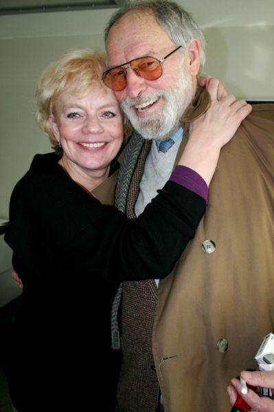 Su latvių kino ir teatro aktore M. Martinsone.