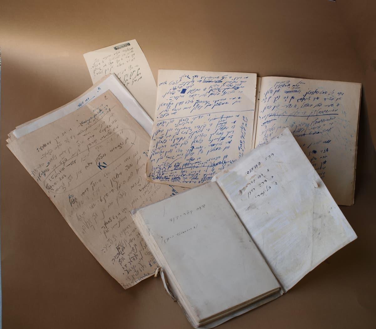 Avromo Suckeverio Vilniaus gete rašytų kūrinių rankraščiai ir juodraščiai