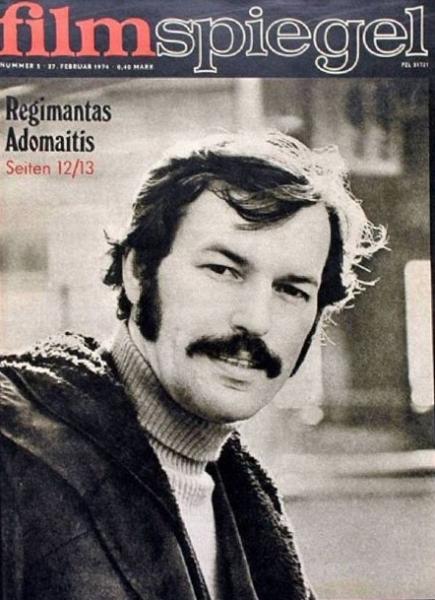 Regimantas Adomaitis: [aktoriaus R. Adomaičio nuotrauka žurnalo viršelyje] // Filmspiegel. 1974, 27 February.