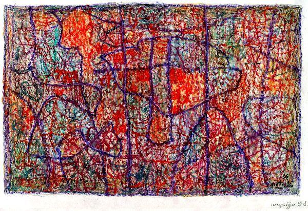 Miniatiūra.1994 (?). Popierius, aliejinės kreidelės