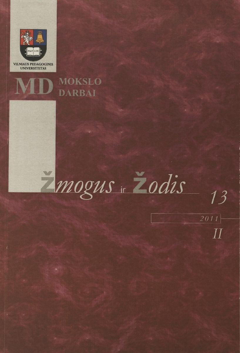Žmogus ir žodis. 2011,t. 13, nr. 2.