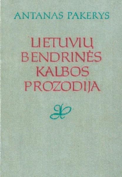 Lietuvių bendrinės kalbos prozodija.