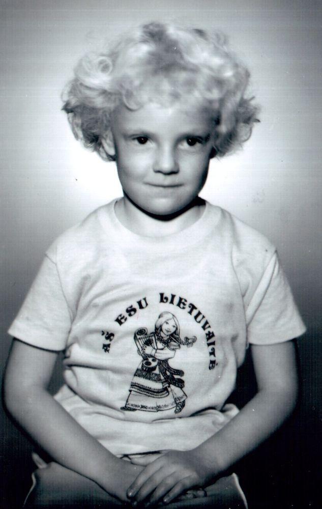 Vytauto dukters Vitos-Gražinos duktė Vita. 1989 m.