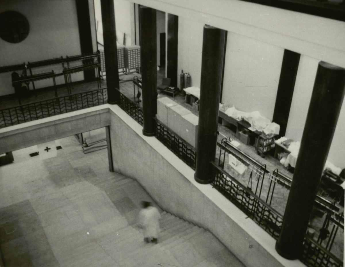 Laikinoji ligoninė Nacionalinėje bibliotekoje
