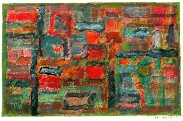 Miniatiūra. 1991. Popierius, aliejinės kreidelės