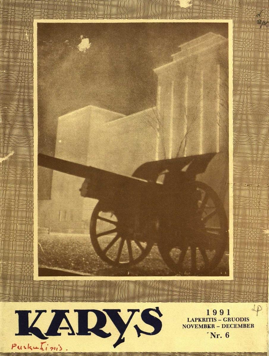 """Paskutinis """"Kario"""" numeris, leistas išeivijoje, 1991 m., Nr. 6"""