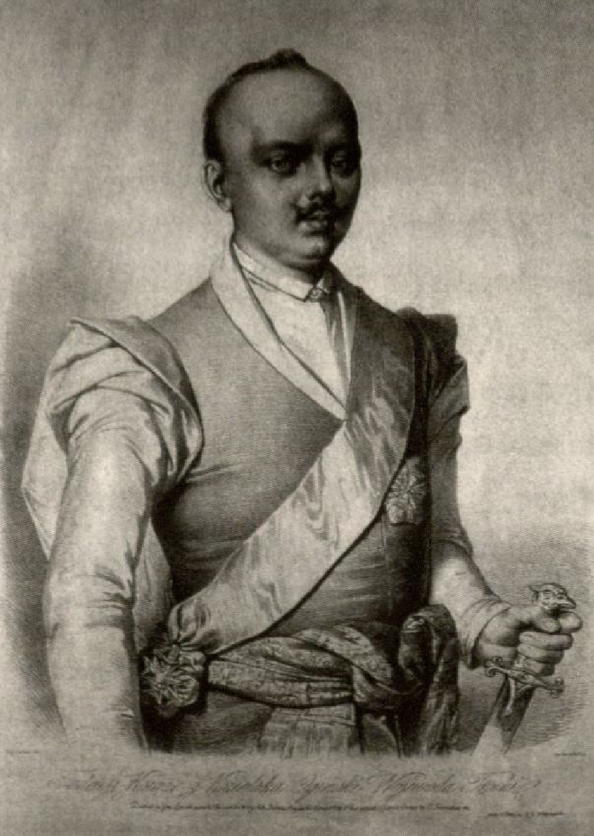 Kunigaikštis Mykolas Kazimieras Oginskis (1712–1783),  kunigaikščio Mykolo Kleopo Oginskio senelis. Dail. Auguste Lemoine