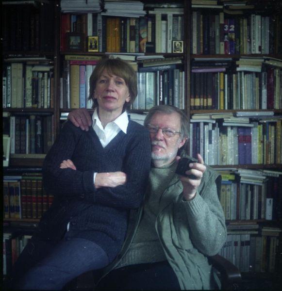 Su žmona Vita savo namuose. 2012 m., Vilnius.