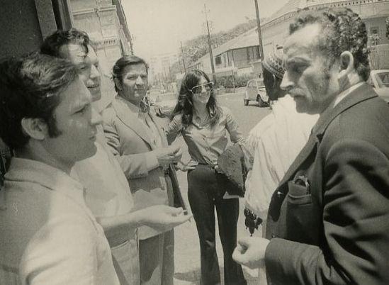 """Atokvėpio minutė. Su filmo """"Tas saldus žodis – laisvė!"""" kolektyvu. 1973 m., Čilė."""