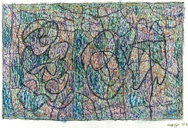 Miniatiūra. 1994 (?). Popierius, aliejinės kreidelės