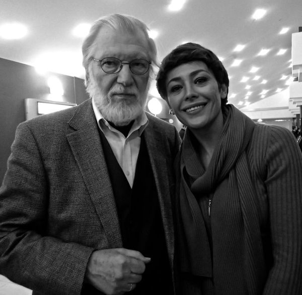Su rusų aktore J. Volkova. 2014 m.