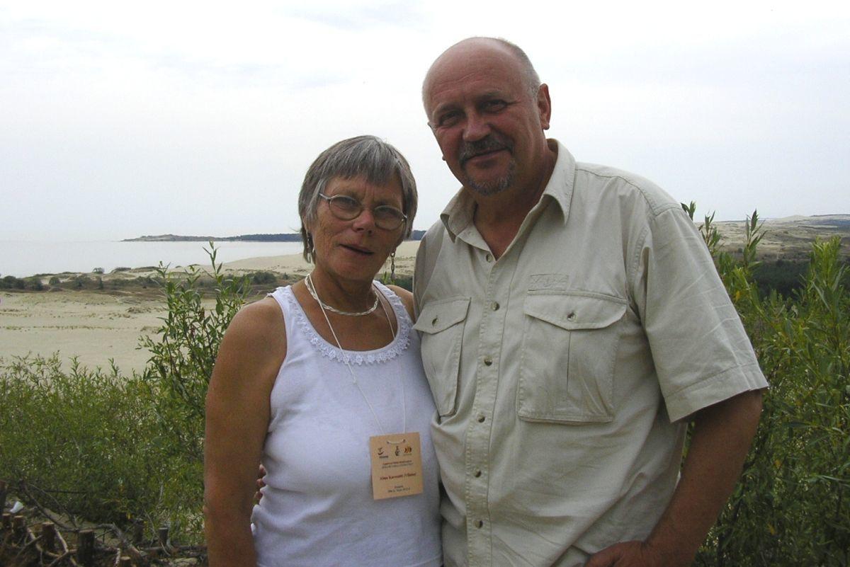 Alma Karosaitė ir Rimantas Černiauskas. Nida, 2006