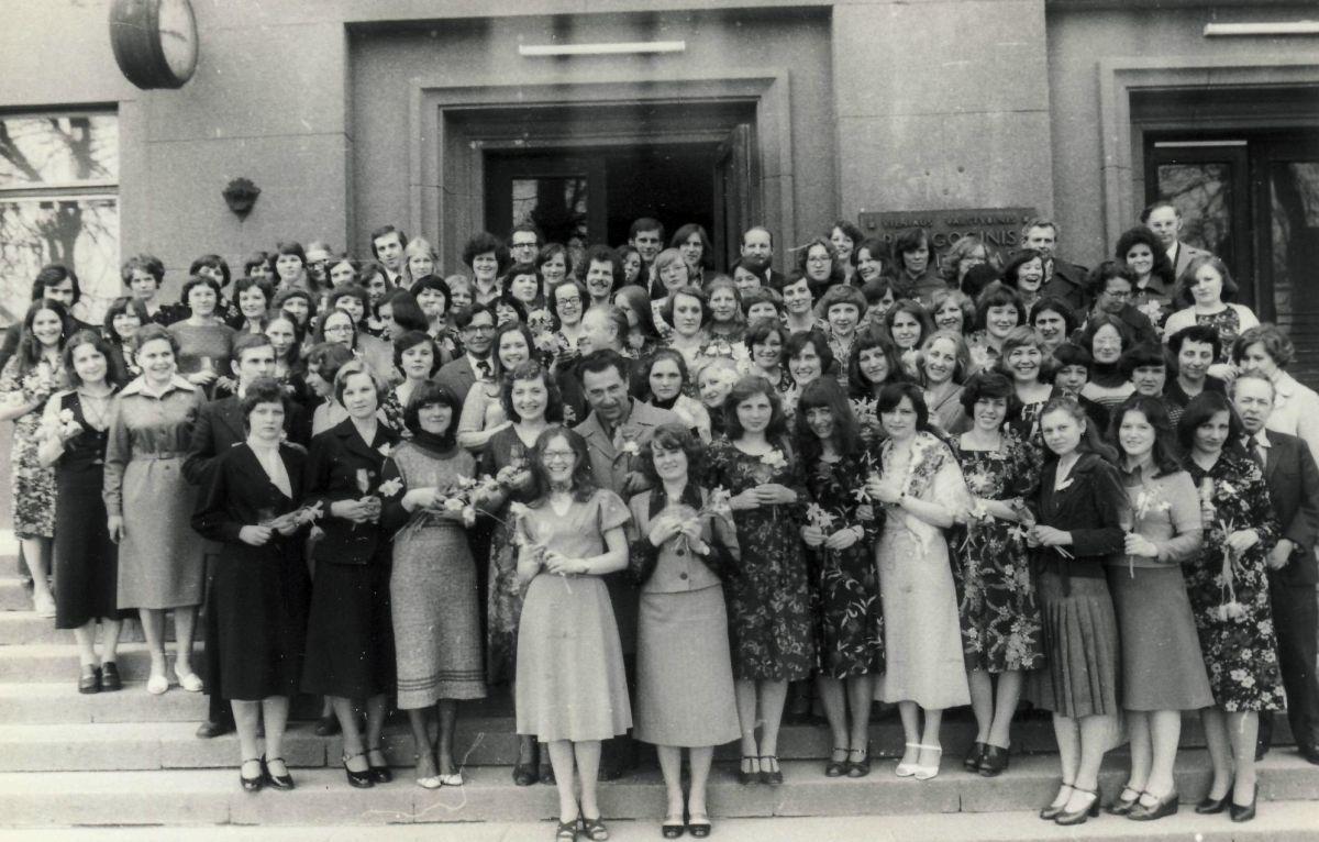 Lituanistų-pedagogų laida su dėstytojais. 1978 m.
