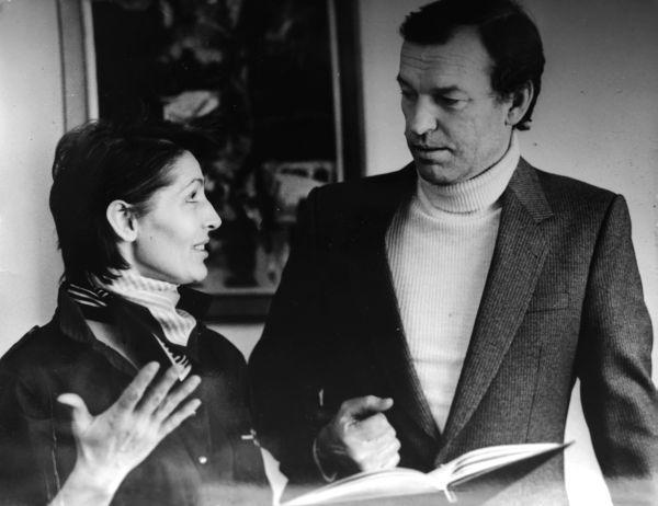 Su žmona Eugenija savo namuose Žvėryne. 1990 m., Vilnius.