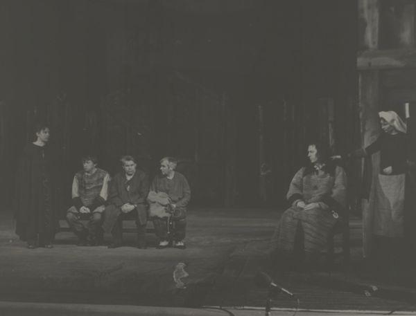 """Scena iš spektaklio """"Mažvydas""""."""