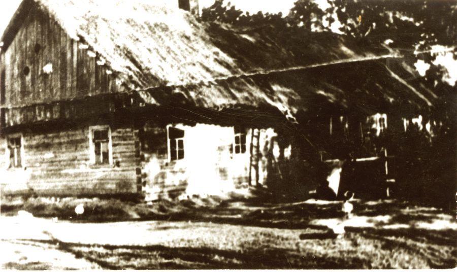 K. Griniaus gimtasis namas Selemos Būdoje (sudegė 1944 m.).