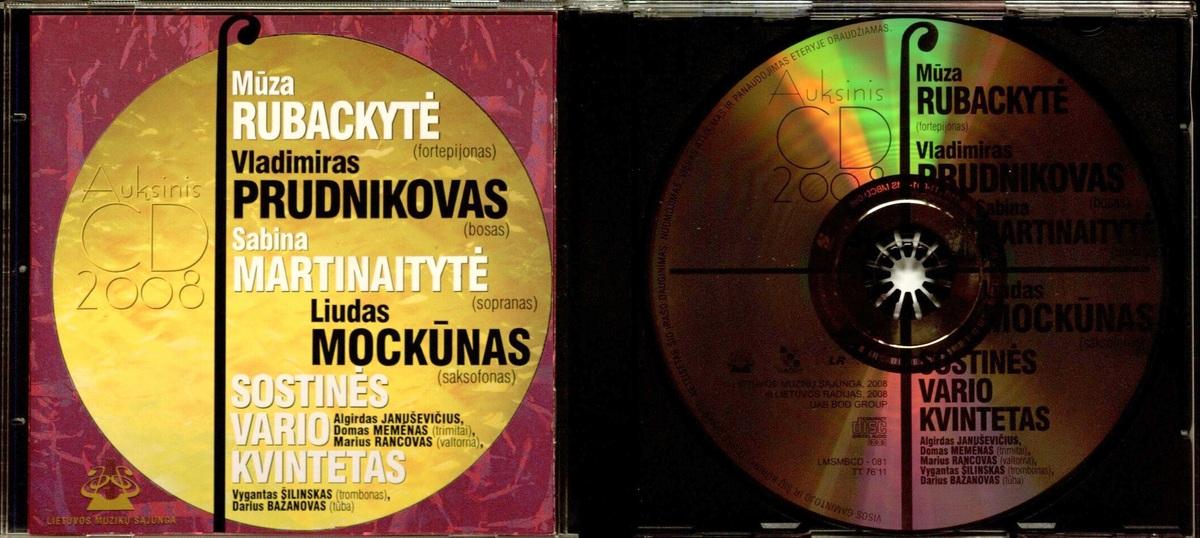 Auksinis CD. 2008 [Garso įrašas]