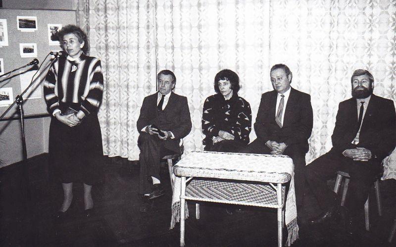 B. Radzevičiaus atminimo vakaras Maironio lietuvių literatūros muziejuje. Kalba muziejaus direktorė Aldona Ruseckaitė. 1990 m.