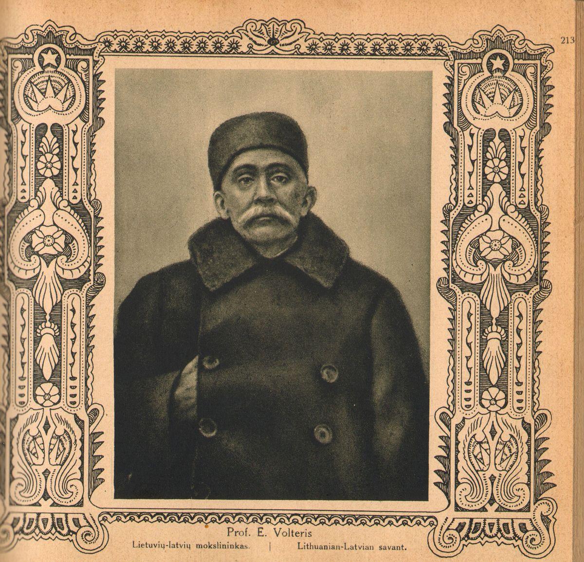 "Prof. Eduardo Volterio portretas leidinyje ""Lietuvos albumas"". [Kaunas], 1921."