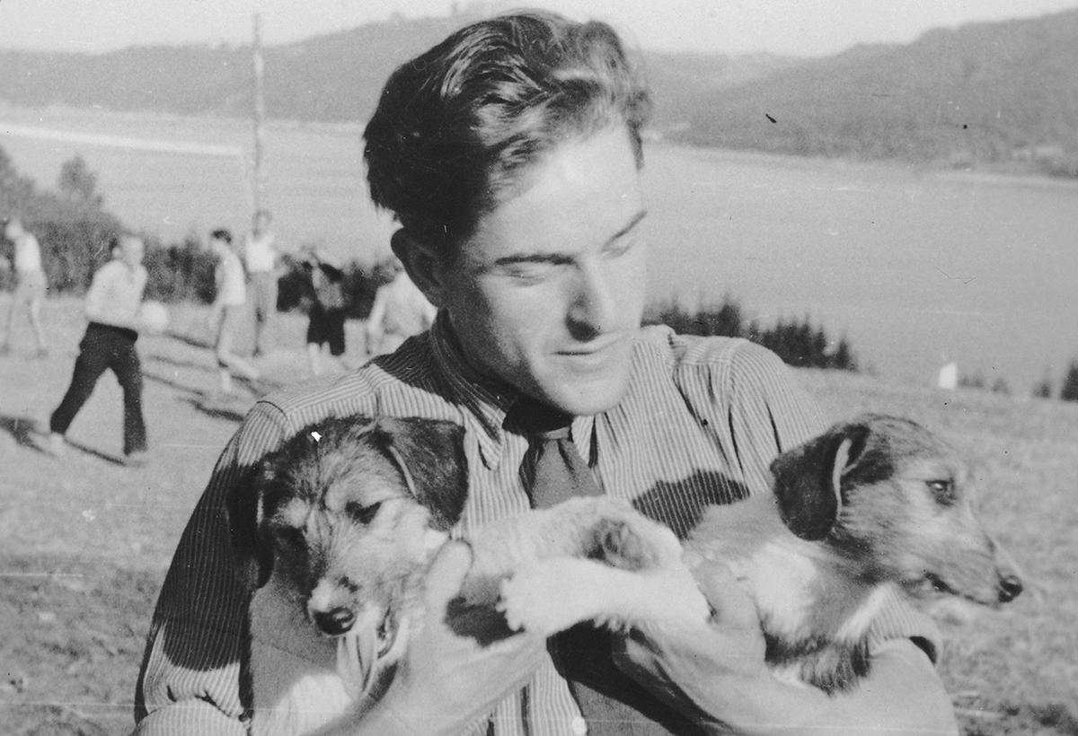 Adolfas Mekas D.P. stovykloje. <br /> 1948 m.
