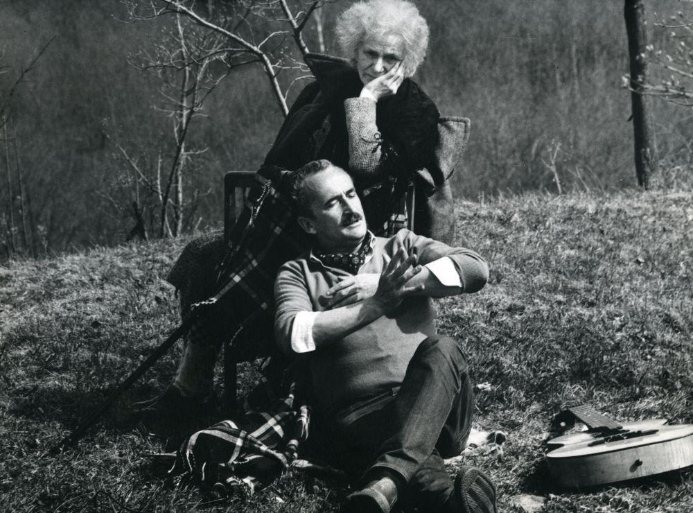 """V. Žalakevičius """"Atsiprašau"""" filmavimo metu. 1982 m."""