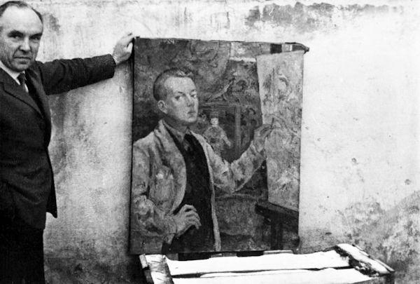 """Prie """"Autoportreto"""". 1974"""