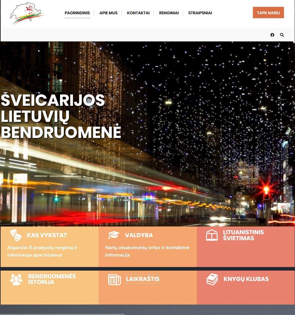 Naujausia Šveicarijos lietuvių bendruomenės svetainė, 2020 m.