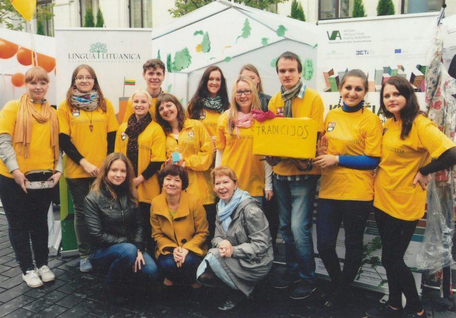 LEU LF Studentų atstovybės nariai. 2013 m.