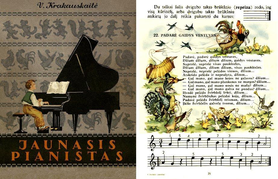 Krakauskaitė, V. Jaunasis pianistas. D. 1. Kaunas : Valst. ped. lit. l-kla, 1959. 158 p.