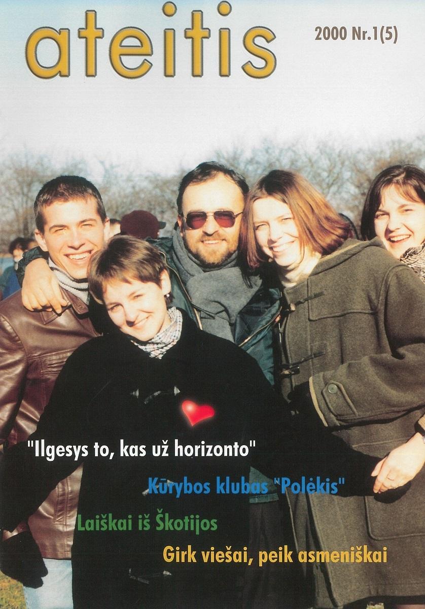 """Jau Lietuvoje leistos """"Ateities"""" viršelis, 2000 m., Nr. 1"""