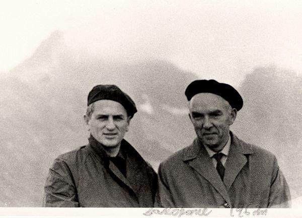 Su tapytoju Stasiu Jusioniu. <br /> Lenkija, Zakopanė. 1962