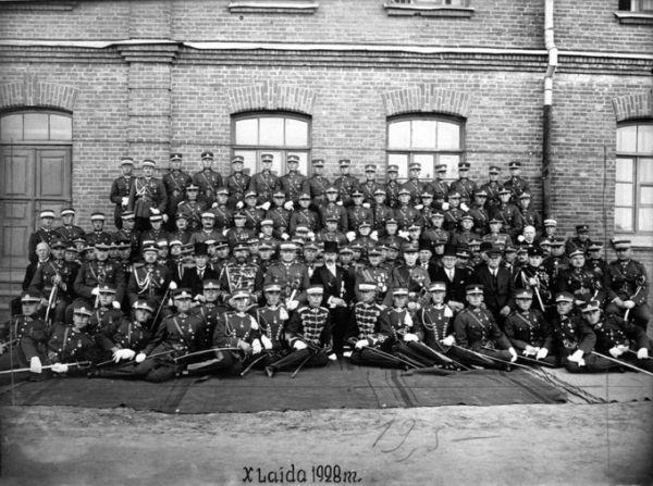 Karo mokyklos 10-osios karininkų laidos išleistuvės. 1928 m., Kaunas.