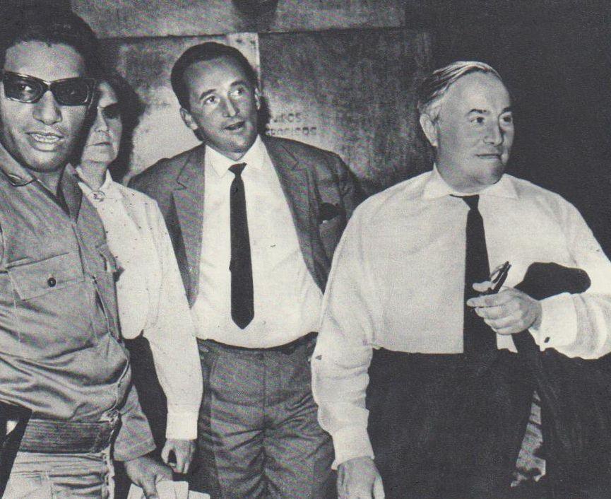 V. Žalakevičius su kino kritiku J. Surkovu (dešinėje) Kubos kino studijoje. 1966 m.