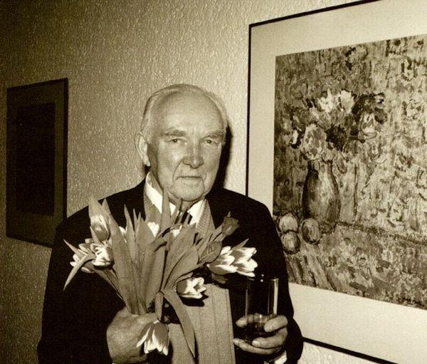 """Parodos atidarymo metu """"Lietuvos aido"""" galerijoje. 2000"""