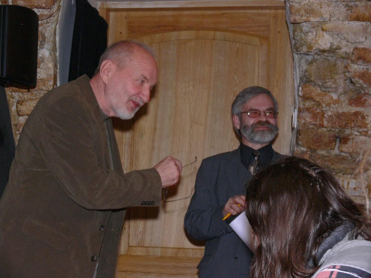 Su poetu Vladu Braziūnu