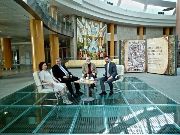 Interviu Baltarusijos Nacionalinėje bibliotekoje metu. 2015 m.