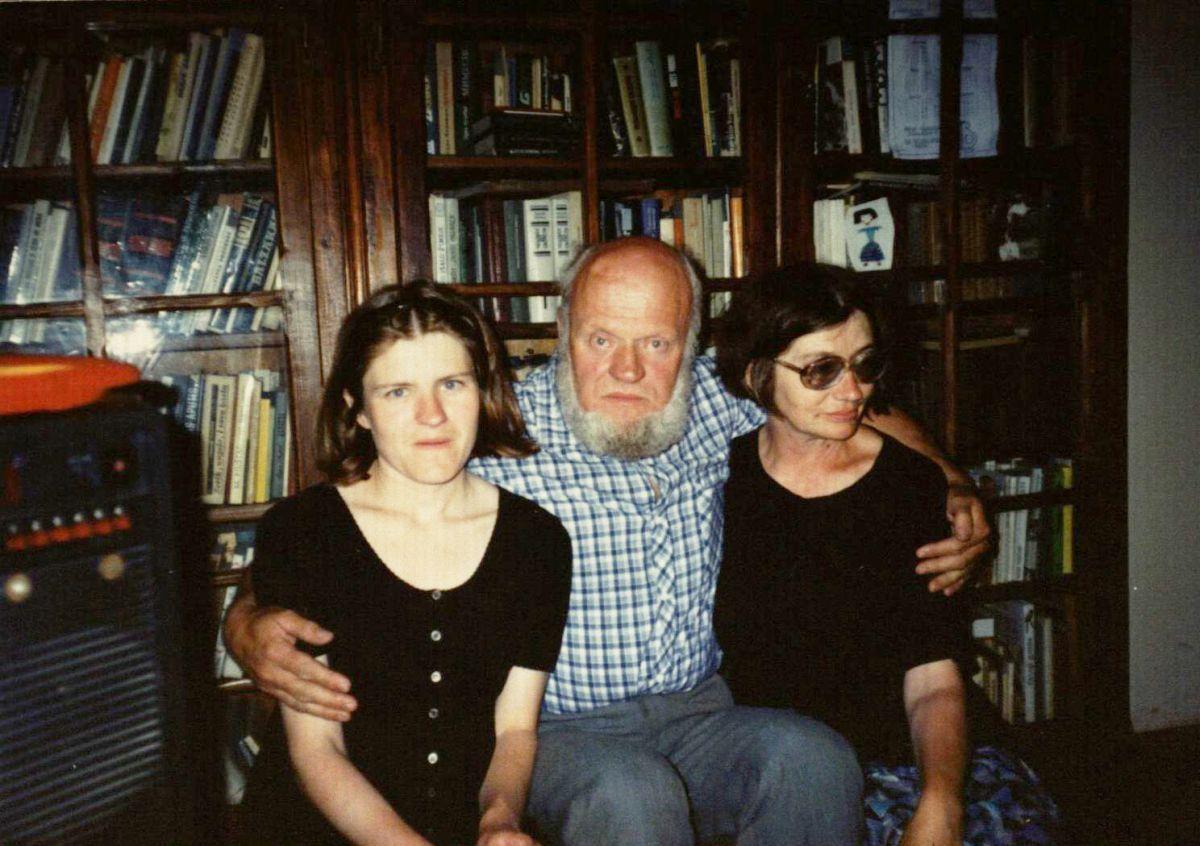 Su žmona ir dukra. 1995 m. rugpjūtis