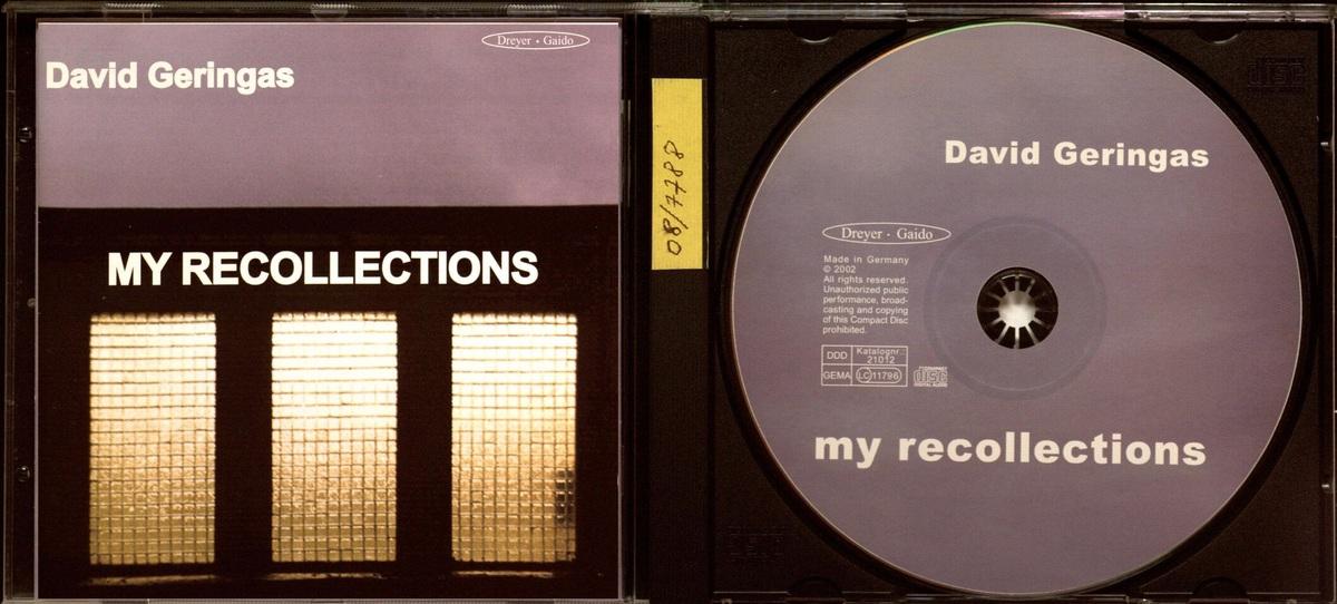 My recollections [Garso įrašas] : [album]