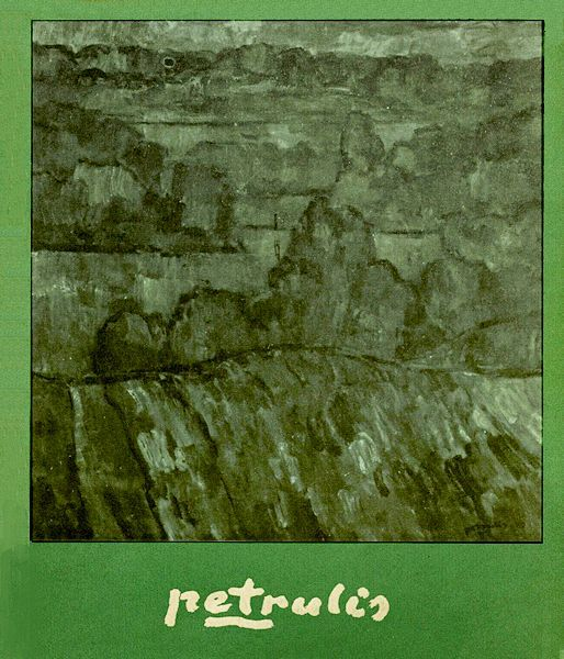 "Algirdas Petrulis : parodos katalogas / [katalogą sudarė autorius].  Vilnius : Lietuvos TSR dailės muziejus, 1975 (Vilnius : ""Vaizdo"" sp.).  [25] p., įsk. virš. : iliustr."