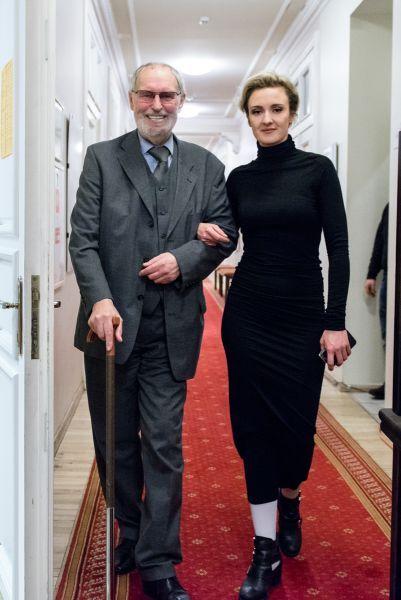 Su teatro režisiere G. Tuminaite jubiliejinio vakaro, skirto Vilniaus mažojo teatro 25-mečiui, metu. 2014 m., Vilnius.